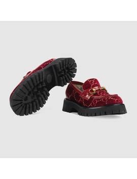 gg-velvet-lug-sole-loafer by gucci