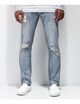 broken-promises-lovesick-raw-hem-blue-denim-skinny-jeans by broken-promises
