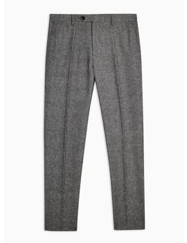 Heritage Grey Textured Skinny Fit Suit Trousers by Topman