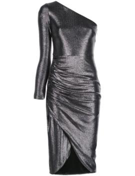 single-sleeve-midi-dress by aidan-mattox
