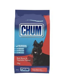 Chum Crunchy Dog Food 15kg   Beef, Bone & Vegetable by Chum