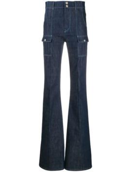 jeans-mit-aufgesetzten-taschen by chloé
