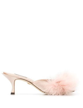 faux-feather-mules by dolce-&-gabbana