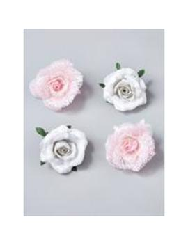 clip-on-rose-christmas-tree-decorations-(set-of-4)---pink_white by gisela-graham