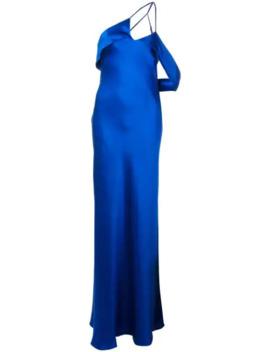 draped-arm-silk-gown by michelle-mason