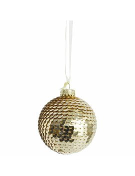 wilko-luxe-sparkle-sequin-bauble-gold-christmas-tree-decorationwilko-luxe-sparkle-sequin-bauble-gold-christmas-tree-decoration by wilko