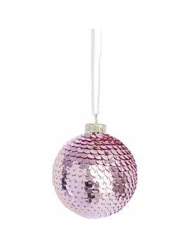 wilko-luxe-sparkle-sequin-bauble-pink-christmas-tree-decorationwilko-luxe-sparkle-sequin-bauble-pink-christmas-tree-decoration by wilko