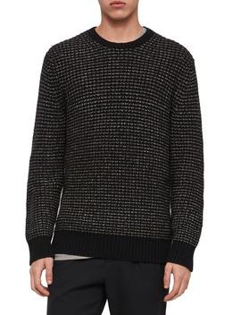 larkk-wool-blend-crewneck-sweater by allsaints