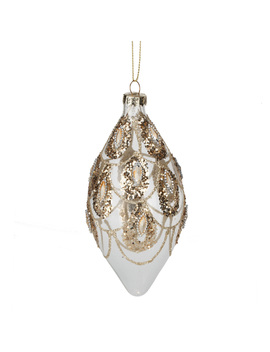 gold-draped-droplet-bauble by the-range