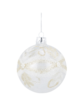 clear-silver-and-champagne-draped-bauble by the-range