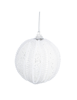 christmas-white-glitter-bead-bauble by the-range