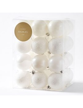 natural-nostalgia-36-piece-bauble-pack---warm-white by target