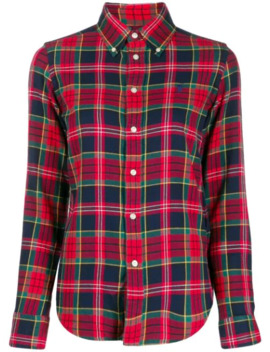 plaid-logo-embroidered-shirt by polo-ralph-lauren