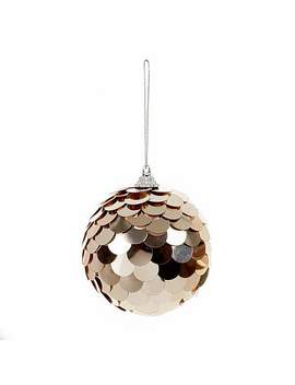 sequin-rose-gold-bauble by dunelm