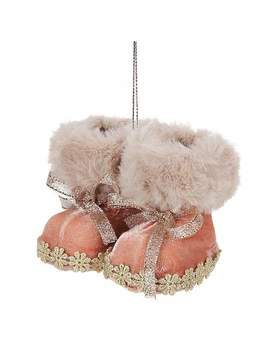 blush-fabric-boots-tree-decoration by dunelm