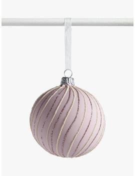john-lewis-&-partners-sanctuary-glitter-swirl-bauble,-matte-pink by john-lewis-&-partners