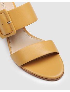 Rain Low Slides Mustard Leather by Jo Mercer
