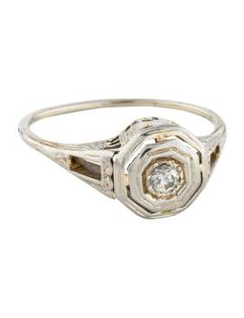 18k-diamond-octagonal-nouveau-ring by ring