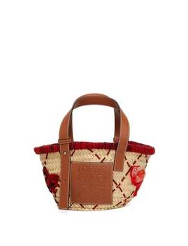 bird-embroidered-small-basket-bag by loewe