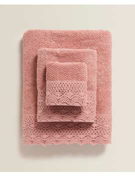 lacetrimmed-towel-- by zara-home