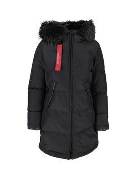 Black Cion Jacket Faux Fur by Clermonte