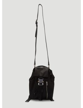 Rollercoaster Buckle Backpack In Black by 1017 Alyx 9 Sm