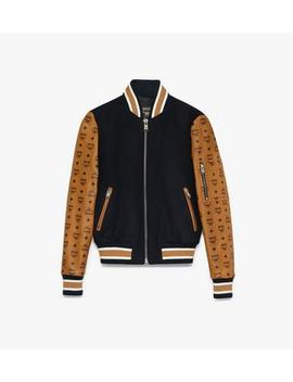 womens-bomber-jacket-in-visetos by mcm