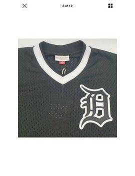 detroit-tigers-mlb-mitchell-&-ness--jersey-mens-mesh-black-white-xl by mitchell-&-ness