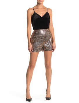 high-waisted-sequin-shorts by socialite