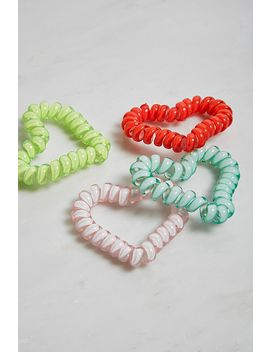 heart-telephone-cord-hair-tie-set by urban-outfitters