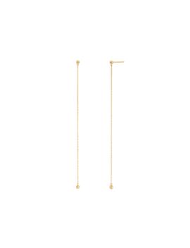 sphere-chain-earrings by mejuri