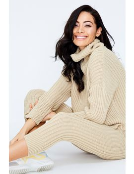 nude-knitted-rib-lounge-wear-set by select