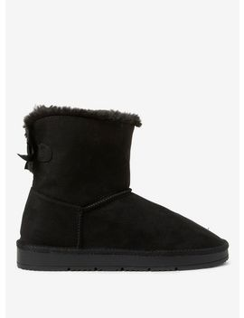 black-molly-faux-fur-boots by dorothy-perkins