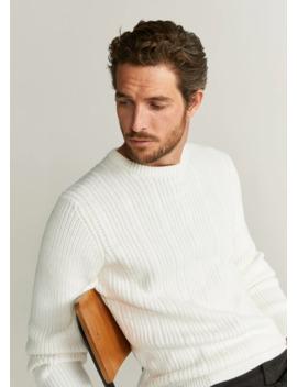 strukturierter-pullover-mit-kontrastdetails by mango