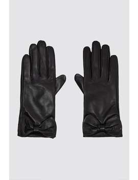 bow-leather-gloves by zara