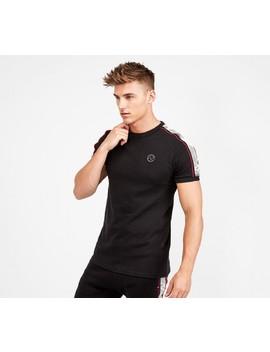 tivigo-linear-print-tape-t-shirt-|-black by alessandro-zavetti