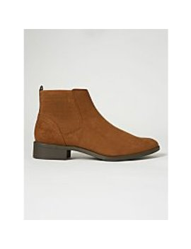 brown-suede-effect-chelsea-boots by asda