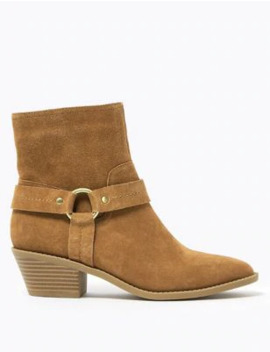 suede-stirrup-ankle-boots by marks-&-spencer