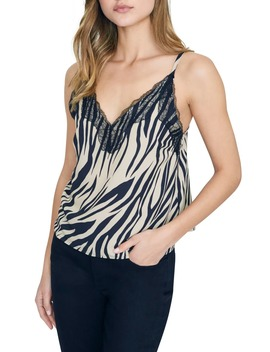 perfect-match-zebra-print-lace-detail-camisole by sanctuary
