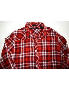 sean-john-~-mens-~-red--plaid-~-100%-cotton-flannel-~-long-sleeve-shirt-size-xl by sean-john