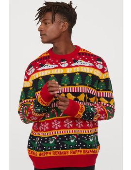 żakardowy-sweter by h&m
