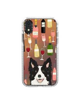 border-collie-wine-bubbly-champagne-cocktail-hour-border-collies-clear-dog-breed-case by casetify
