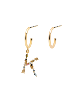 letters-gold-earrings by p-d-paola
