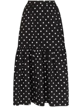 polka-dot-tiered-midi-skirt by staud