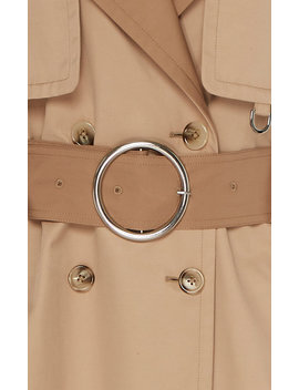 contrast-stitch-hooded-trench-coat by caalo