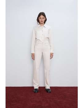 straight-jeans-zw-premium-met-hoge-taille by zara