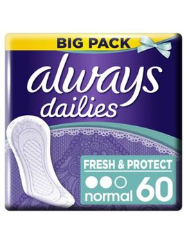 always-dailies-fresh-&-protect-panty-liners-normal-x-60 by always
