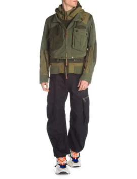 hooded-military-bomber-jacket by dsquared2