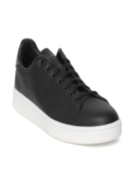 men-black-advantage-leather-sneakers by adidas