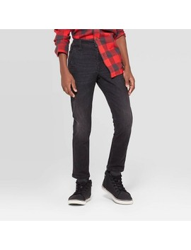 boys-winter-brushed-back-skinny-fit-jeans---cat-&-jack-black by cat-&-jack